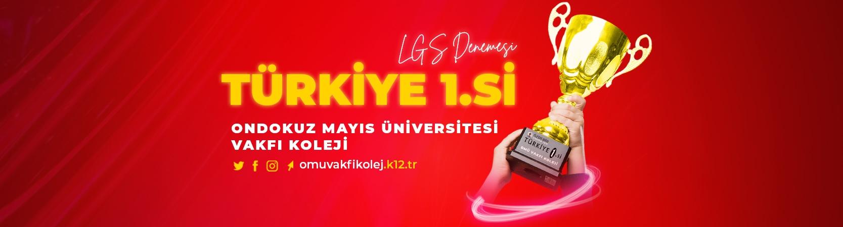 Türkiye 1. si OMÜ Vakfı Koleji'nden