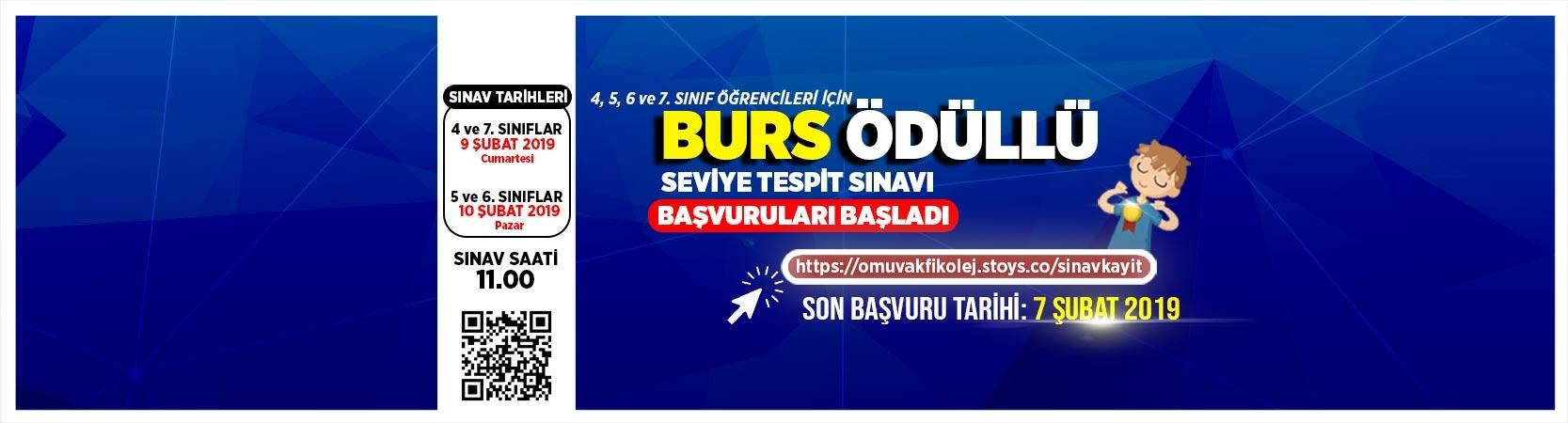 BURS ÖDÜLLÜ SEVİYE TESPİT SINAVI BAŞVURULARI BAŞLADI