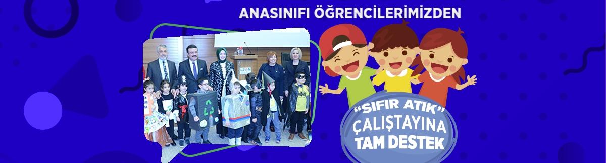 """OMÜ VAKFI KOLEJİ ANASINIFI """"SIFIR ATIK"""" İLE SAHNE ALDI"""