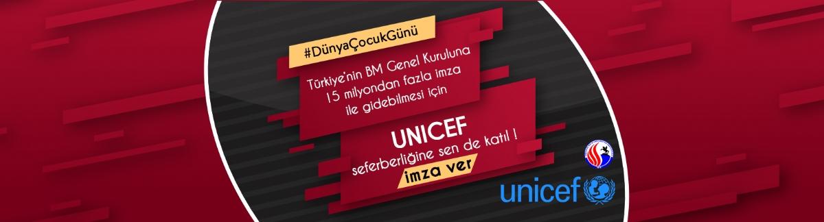 UNICEF İçin İmza Kampanyası