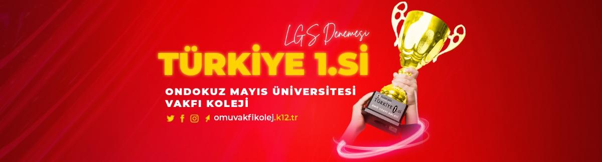 Türkiye 1.si OMÜ Vakfı Koleji'nden